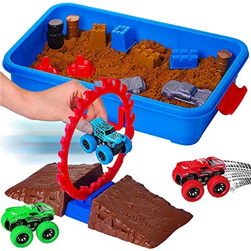 Dazmers Monster Truck Sand Play Set, Sensory Toys for Kids...