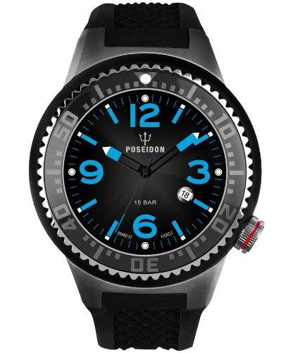 Kienzle Herren-Armbanduhr POSEIDON XL Analog  Quarz Silikon K2031053273-00390