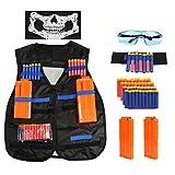 BelleStyle Gilet Tactique pour Enfants, Nerf Accessoire Kit Veste Gilet...