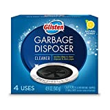 Glisten Garbage Disposal Cleaner and Odor Eliminator with Foaming Action, Removes Buildup and Cleans, Lemon Scent, 4 Uses