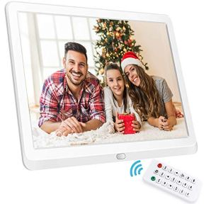 10-Inch-Digital-Picture-Frame-169-1920x1080-IPS-Widescreen-Digital-Photo-Frame-Supports-Adjustable-Slideshow-Brightness-1080P-FHD-Video-Music-Alarm-128G-SD-White