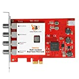 TBS6522 Dual Tuner PCIe Card DVB-S2X S2 S T2 T C2 C ISDB-T Multi Standard Digital TV Card Live TV/Window/Linux/HTPC/IPTV Server