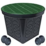 StormDrain FSD-3017 20-in. Large Round Catch Basin with Green Grate Kit