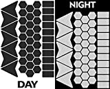 45pcs High Visibility Warning Reflective Stickers Hexagon Honeycomb Kit Decals Black Reflector Highly Night Safety Sign Visibility Universal Self - Adhesive D 47
