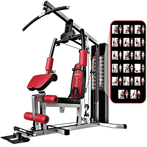 Sportstech Premium 50in1 Multi Gym for a ONE Allround Training | Multifunctional Workout Station | Stepper & LAT Pulling Tower | HGX100 Fitness Station | Eva material | Extremely Sturdy