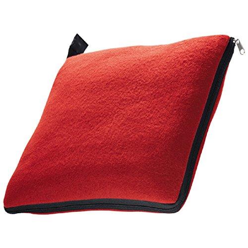 presents & more XL Manta y cojín en un, Rojo, Aprox. 180x 120cm