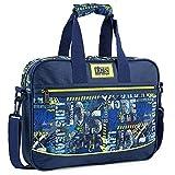 Lois - Bolso maletín portadocumentos para portátil 15.6 Pulgadas Chico diseño Urbano Skater Graffiti práctica Ligera 131706, Color Marino