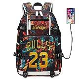 Lorh's store Jugador de Baloncesto Estrella Michael Jordan Mochila multifunción Estudiante de Viaje Mochila para fanáticos para Hombres Mujeres (Estilo 2)