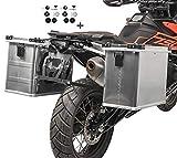 Maletas Laterales Aluminio Gobi 34-45l para KTM 690 Enduro/R + Kit portamaletas