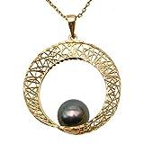 JYX Pearl Collier ras de cou de pendentif or 18 carats - Choisi 9,5 mm...