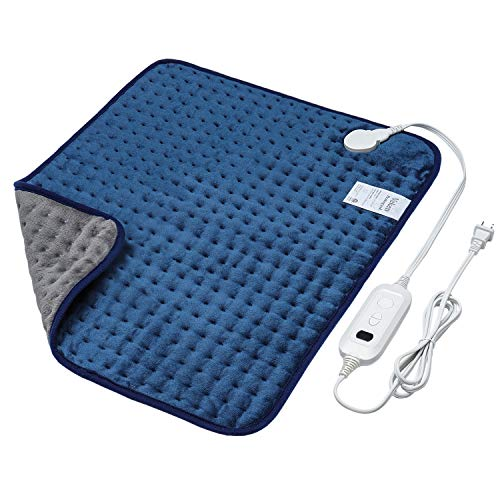 Veken Electric Heating Pad with Fast-Heating Technology, Moist Dry Heat, Auto-Off & Machine Washable, XL Ultra-Soft Heat Therapy Pad for Cramps/Back/Knee/Neck & Shoulders(20' X 24', Blue)