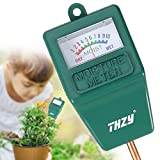 THZY Soil Moisture Meter,Hygrometer Moisture Sensor soil Indoor/Outdoor Moisture Sensor Meter, soil water monitor, for gardening, farming (No Battery needed)