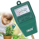 THZY Soil Moisture Meter,Hygrometer Moisture Sensor soil Indoor/Outdoor Moisture Sensor Meter, soil water monitor, for gardening, farming (No Battery needed)
