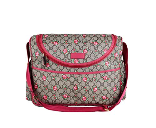 """51rvdViBFiL Gucci Ophidia Red Flora Leather Large Canvas Flower Tote Handbag Bag Italy New 547947 HWHAC 8722 Color: Multicolor Nature does it best, as proven by this Flora motif Gucci tote. The flower details are offset by striking red leather here. Your new wardrobe essential. Featuring a floral print, a monogram print, a signature three stripe detail, gold-tone hardware, round top handles, a main internal compartment and a zipped coin pouch. Outer Leather 100%.Outer Nylon 100%.Outer Canvas 100%.Outer metal 100%. Medium: W 44cm x H33 cm x D 15cm (17.5""""W x 13""""H x 6""""D). Gucci's tote is the latest addition to the 'Ophidia' family, which is defined by the signature 'GG Supreme' coated-canvas, webbing trim and gold logo hardware. It's patterned with an archival 'Flora' print created by artist Vittorio Accornero in the '60s and outlined in red textured-leather. The suede interior has a detachable zipped pouch for bills and coins."""