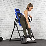 XtremepowerUS Premium Gravity Inversion Therapy Table Back Pain Relief Heavy Duty Adjustable PU Leather Padded Cushion