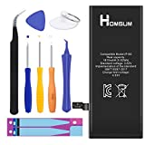 HOMSUM Battery for iPhone 5 with Repair Replacement Kits & Instructions - Full 1440 mAh New 0 Cycle [365 Days Warranty]