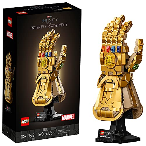 LEGO Marvel Infinity Gauntlet 76191 Collectible Building Kit; Thanos Right Hand Gauntlet Model with Infinity Stones (590 Pieces)