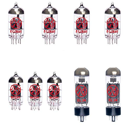 4x ECC83 and 3x ECC81 and 2x EL34 Matched Guitar Amplifier Valve Kit 12