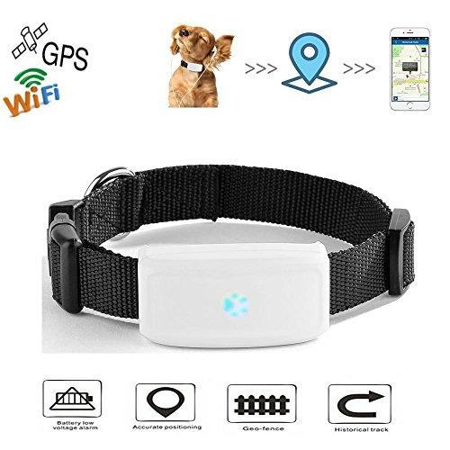 GPS Tracker Chat Chien avec col TKSTAR Mini Traceurs GPS Anti-Perte Suivi en Temps réel pour Petit Chat Chien Enfants Parents TK911