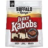 Buffalo Range Rawhide Dog Treats   Healthy, Grass-Fed Buffalo Jerky Raw Hide Chews   Hickory Smoked Flavor   Jerky Kabob, 18 Count