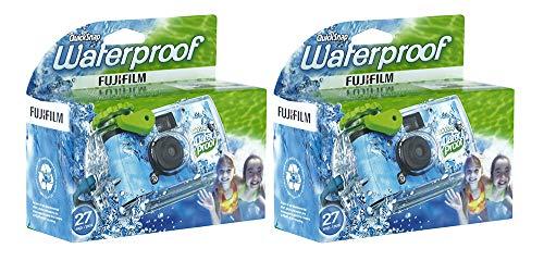 Quick Snap 防水35mmカメラ800フィルム ブルー/グリーン/ホワイト 27枚撮り (2箱)