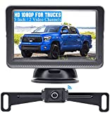Wireless Backup Camera for Trucks HD 1080P with 5 Inch Monitor Stable Digital Signals Rear View Camera for Car Camper Van SUV DIY Add on Second Wireless RV Camera or License Plate Camera DoHonest S23