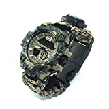 RHJK Montre du Bracelet de Survie, Montre Digital Watch Military Militaire...