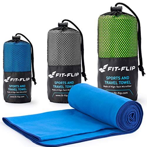 Fit-Flip Serviette en Microfibre - idéale comme Serviette de Bain...