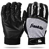 Franklin Sports Youth Teeball Batting Gloves - Youth Flex - Kids Batting Gloves for Teeball, Baseball, Softball - Black/White - Extra Small (21205F0)