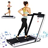 ANCHEER Treadmill,2.25HP Under Desk Electric Treadmill, 2 in 1 Folding Treadmill with Remote Control and LED Display, Jogging Walking Running Machine for Family & Office Use1.8
