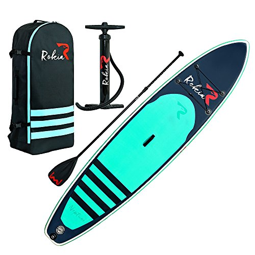 "Rokia R Inflatable Stand Up Paddleboard 11' (6"" Thick)"