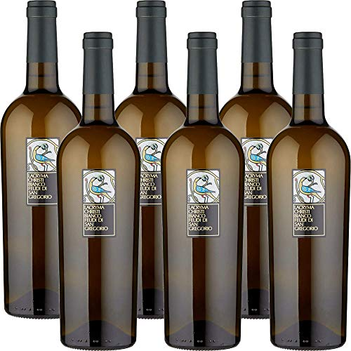 Lacryma Christi Bianco del Vesuvio | Feudi di San Gregorio | Vino della Campania | Confezione da 6 Bottiglie da 75 Cl | Idea Regalo