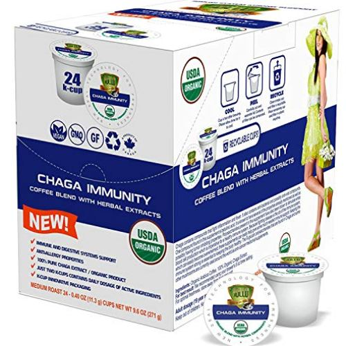 SOLLO 100% Chaga Coffee Pods Compatible With 2.0 K-Cup Keurig Brewers