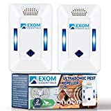 ES-2, Ultrasonic Pest Repeller Wall Plug-in, Most Effective than Repellents, Get Rid Of - Roaches, Ants, Spiders, Bed Bugs, Мosquito, insects, Fleas, Rodents, Squirrels, Mice, Rats, Bats, (2Pack)