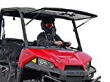SuperATV Heavy Duty Scratch Resistant Flip Windshield for 2015+ Polaris MIDSIZE Ranger...