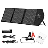 AIDPEK 60W Foldable Solar Panel with Kickstand,Portable Solar Charger with QC3.0 USB Ports&18V DC Output for Suaoki Portable Generator / 8mm Goal Zero Yeti Power Station/Jackery/USB Devices
