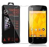 Cadorabo Verre Trempé pour LG Google Nexus 4 en Haute Transparent - Film...