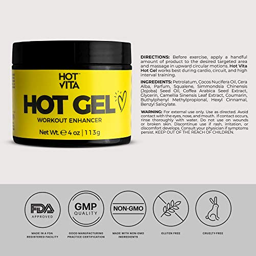 Hot Vita Hot Gel – Sweat Cream Workout Enhancer Belly Slimming Gel (4 oz) 5