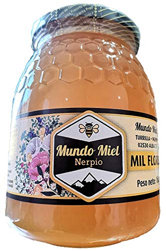 Miel de abeja Natural. RECIÉN COSECHADA. LÍQUIDA. Cruda y Pura Mil Flores. Directa del Apicultor. Nerpio, Sierra del Segura, 100% NATURAL