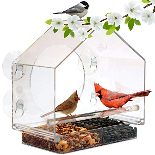 Window Bird House Feeder by Nature Anywhere with...