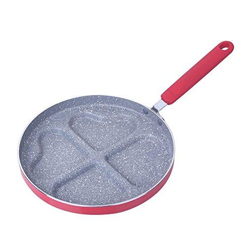 Mini vassoio a forma di cuore Vassoio Cucina esterna Pentola antiaderente Pentole Pentole Uovo Pancake Pasticceria Cottura (Color : Heart shaped)