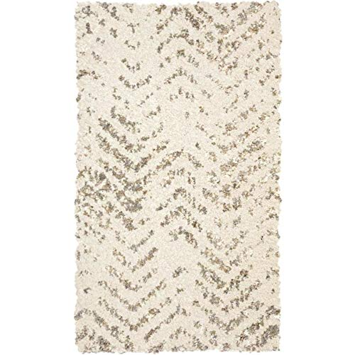 Allen and Roth rugs:Alvida Off White Distressed Throw Rug