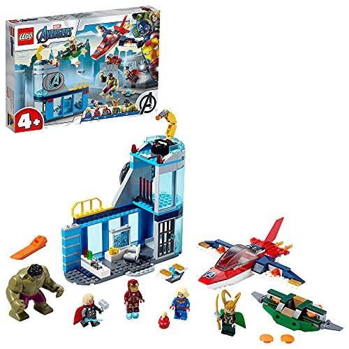 LEGO 76152 Super Heroes Marvel 4+ Avengers – Lokis Rache Set, Super Heroes Serie mit Iron Man &...