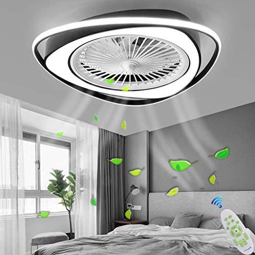 LED Ventilateur Plafonnier Moderne Plafond Fan Avec Télécommande Silencieux Ventilateur Lumière Chambre Lampe Salon Maternelle Pépinière Timing Éclairage Pendentif Lumière Ventilateur Lampe,E