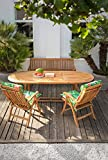 Dehner Gartenbank Havanna, 3-Sitzer, ca. 160 x 67 x 89 cm, FSC Teakholz, natur - 5