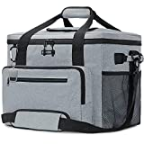 GARDRIT Large Cooler Bag - 60 Cans Collapsible Insulated Lunch Box, Leak-Proof Cooler Bag Suitable for Camping, Picnic& Beach (40L/Grey)