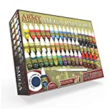 The Army Painter 🖌 | Warpaints Mega Paint Set, 50 Acrylic Paints and 1 Wargamer: Regiment Brush - Comprehensive Starter Set for Wargames, Roleplaying and Tabletop Miniature Model Painting