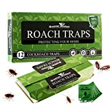 Greener Mindset Roach Trap – 12 Indoor Glue Traps - Spider, Ant and Cockroach Killer – Sticky Bug & Insect Catchers
