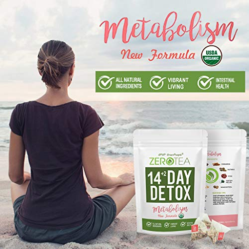 Zero Tea Detox Tea, 14+2 Day Weight Loss Tea for Women&Men, Diet Herbal Tea for Colon Cleanse, GPGP GREENPEOPLE Skinny fit Tea for Slimming (14+2 Tea Bags) 6