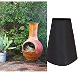 CEMGYIUK Outdoor Patio Chiminea Cover,Waterproof Outdoor Garden Chimney Fire Pit Heater Cover,Heavy Duty Clay Fire Pot Heater Pot Cover,Anti UV,Weather Resistant,48' Height